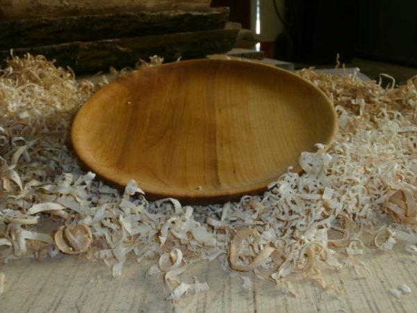 Assiette bois plate